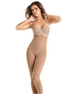 Leonisa Invisible Tummy Control Bodysuit Shapewear Leggings for Women with Leg Compression Shorts