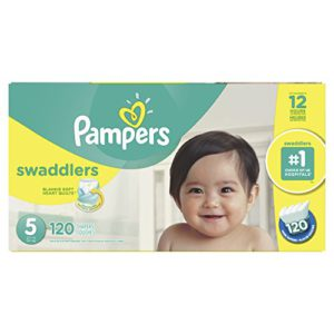 Pampers Swaddlers Disposable Baby Diapers Size 5, Economy Pack Plus, 120 Count