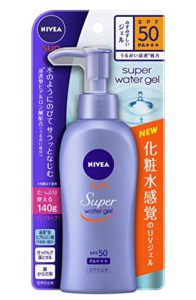 Nivea Super Sun Protect Water Gel SPF 50/PA+++ (Face & Body)Pump Type 140 g (Japan Import)