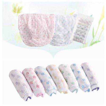 7PCS Women Disposable Underwear Cotton Travel Sterilized Panties Underpants Clean Prenatal Postpartum Disposable Paper Underwear