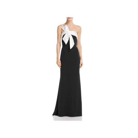 Adrianna Papell Womens Bow-Detail Colorblock Evening Dress