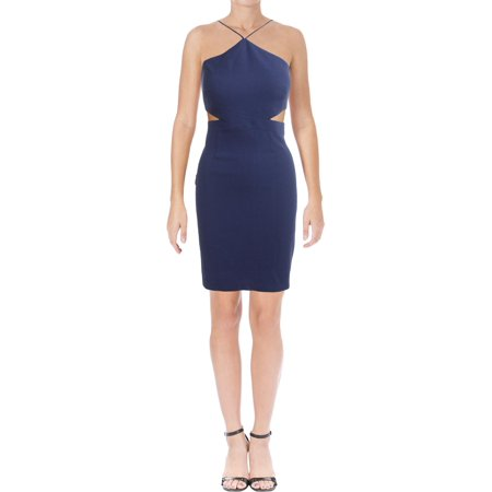 Aidan by Aidan Mattox Womens Sleeveless Cut Out Cocktail Dress