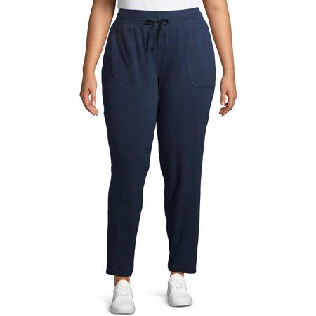 Athletic Works Women's Plus Size Athleisure Core Knit Pant Sweatpant