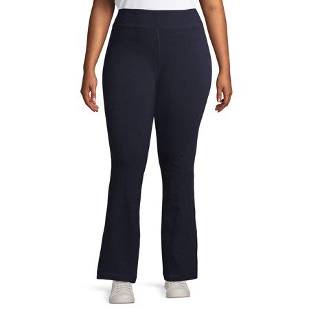 Athletic Works Women's Plus Size Flared Yoga Sweatpants