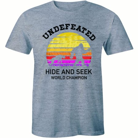 Big Foot Undefeated Hide And Seek World Champion Forest Sasquatch Mens T-Shirt