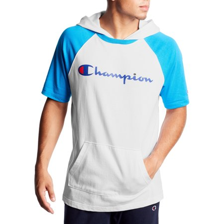 Champion Men's Middleweight Short Sleeve Hoodie, up to Size 2XL
