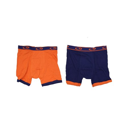 Champion Performance Stretch Advanced Athletic Fit and Support 2 pk Regular Boxer Briefs Blue/Orange Large