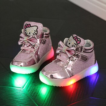 Children Shoes For Boys Girls Sport Running Shoes Baby Flashing Lights Fashion Sneakers Toddler Little Kids LED Glowing Sneakers