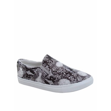 Design-1 Fashion Colors Prints Comfort Slip On Round Toe Flat Sneaker Shoes