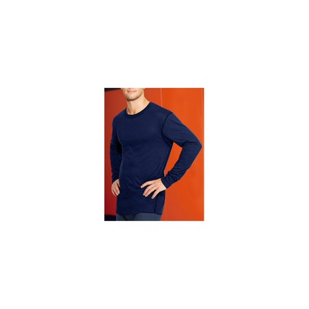 Duofold by Champion Men's Mid-Weight Long Sleeve Base-Layer Thermal Shirt, Navy, Medium