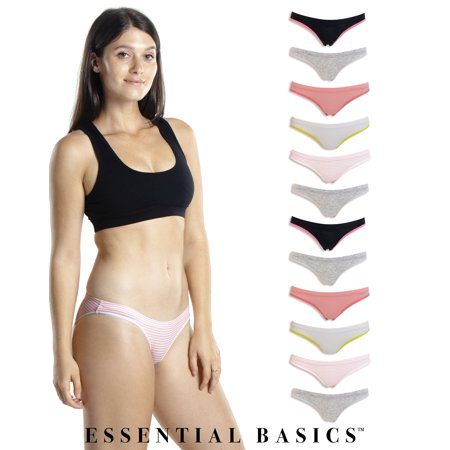 Emprella Womens Underwear Bikini Panties - 10 Pack Colors and Patterns May Vary
