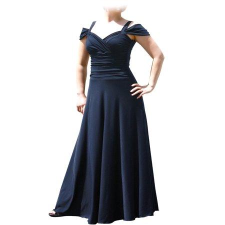 Evanese Women's Plus Size Elegant Long Formal Evening Dress with Shoulder bands