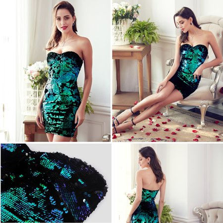 Ever-Pretty Women's Sexy Casual Party Dresses Sweetheart Sequin Date Night Dresses for Women 05823