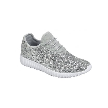 Forever Link Remy Women Sequin Lightweight Glitter Sneakers Cross Training Shoes