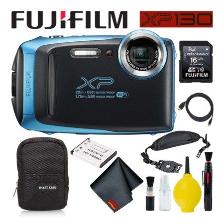 Fujifilm FinePix XP130 Waterproof Digital Camera 600019826 (Sky Blue) Best Value
