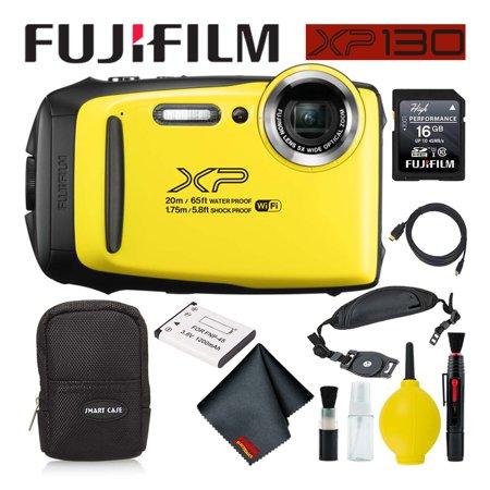FujifilmFinePix XP130 Waterproof Digital Camera 600019828 (Yellow) Best Value Ac