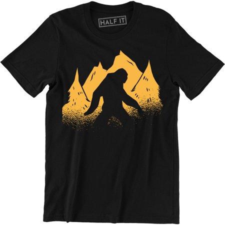Hide and Seek Champion Funny Mens Soft Bigfoot Sasquatch Retro Tee Shirt