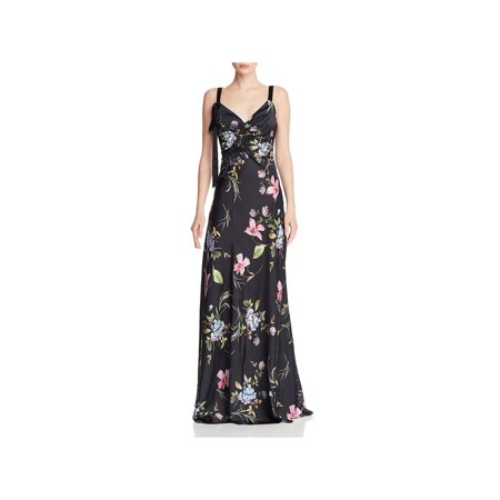 JILL Jill Stuart Womens Satin Floral Evening Dress