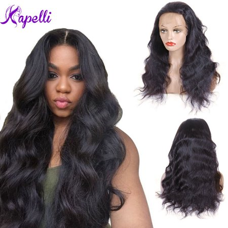 Kapelli Brazilian Body Wave Full Lace Human Hair Wigs With Baby Hair Lace Wig 18""