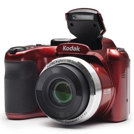 KODAK PIXPRO AZ252 Bridge Digital Camera - 16 MP - 25X Optical Zoom - HD 720p Video (Red)