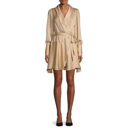 Love Sadie Women's Long Sleeve Wrap Dress