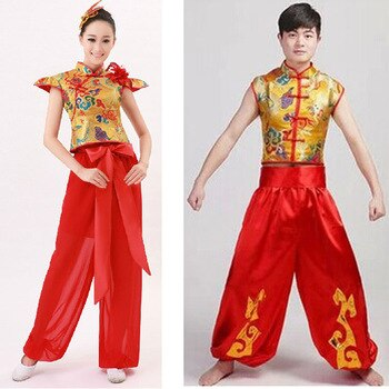 Naruto Cosplay Sale Disfraces Dance Costumes Chinese Drums Clothing Folk Style Men's Yangko Modern Clothes For 150cm-190cm
