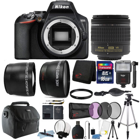 Nikon D3500 24.2MP Digital SLR Camera with Nikon AF-P DX 18-55mm Lens + Best Accessory Bundle