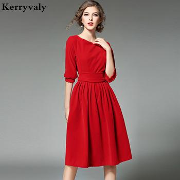 OL Style Women Blue Velvet Dress Winter Dresses Women 2020 Vestidos Ukraine Red Christmas Party Dresses Robe Longue Femme 8869