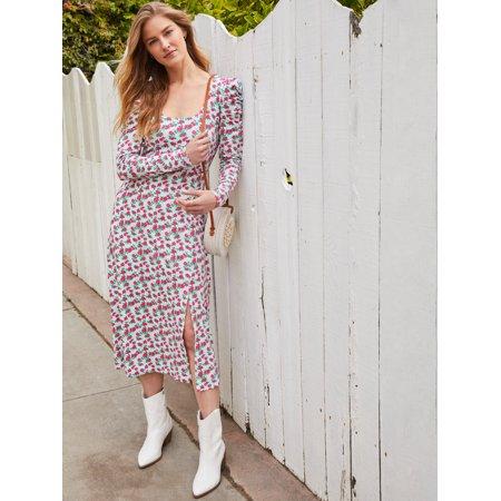 Prospect the Label Women's Puff Sleeve Rib Dress