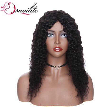 "S-noilite Hair Wigs Human Hair Short Bob Wigs Wave Curly Brazilian Remy Hair Wigs For Women ,Natural Black,16""-125g"
