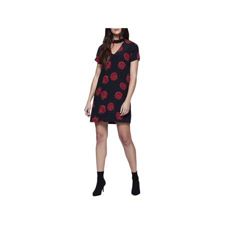 Sanctuary Womens Madeline Floral Print Mini Casual Dress