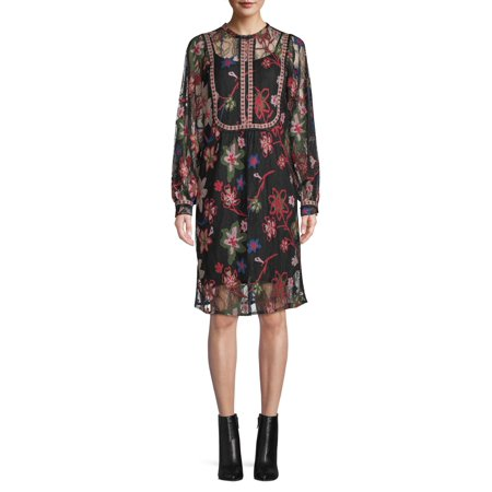 Sui by Anna Sui Women's Floral Embroidered Lace Dress
