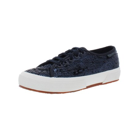 Superga Womens 2750 Sequin Sequined Lace-Up Fashion Sneakers