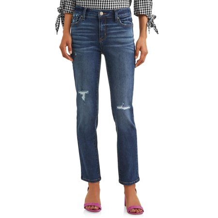 Time and Tru Modern Mid Rise Straight Jeans Women's