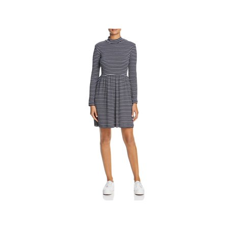 Vero Moda Womens Seda Ribbed Mock Neck Mini Dress