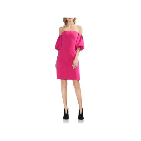 Vince Camuto Womens Night Out Off-The-Shoulder Party Dress
