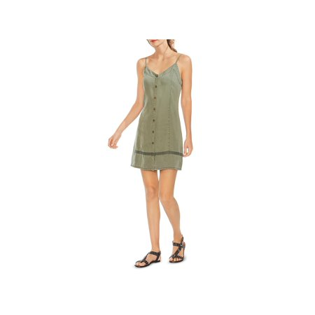 Vince Camuto Womens Tencel V-Neck Casual Dress