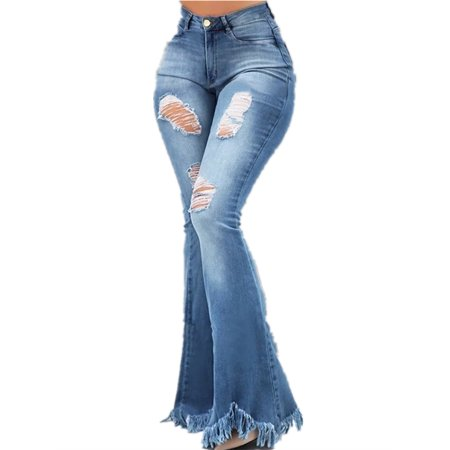 Wide Leg Denim Pants Women Casual Trumpet Leg Jeans