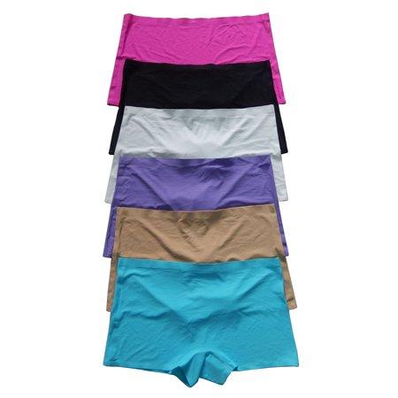 Women Underwear Panties 12 Pack of Smooth No Line Biniki Thong Boxer Various Styles, Size M (151)