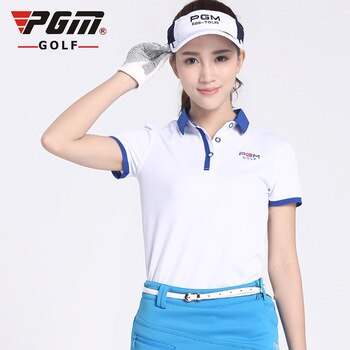 2017 Women Golf t Shirt Short Ladies Golf Clothing Shirts Coat Quick Dry Sport Tshirt Breathble Female Clothes Summer POLO shirt