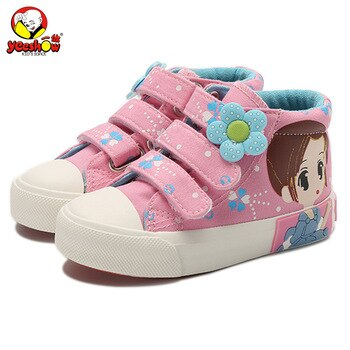 2020 Hot Sale Spring Kids Canvas Sneakers Brand Children Casual Shoes Denim Girls Princess Shoes Autumn Student Flat Boots