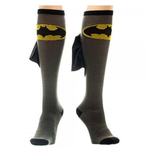 Batman Logo Knee High Shiny Cape Socks