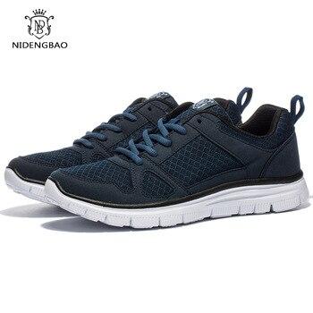 Brand Mesh Casual Shoes Spring Men Lightweight Breathable Men's Sneakers Shoes Male Walking Footwear Black Plus Size 48 49 50