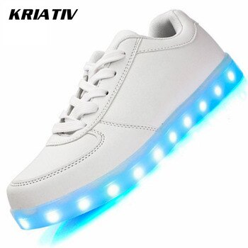 KRIATIV Luminous Sneakers for Girls&Boys Chaussure Light Up Infant USB Charging Luminous Led Shoes with Light Glowing Sneakers