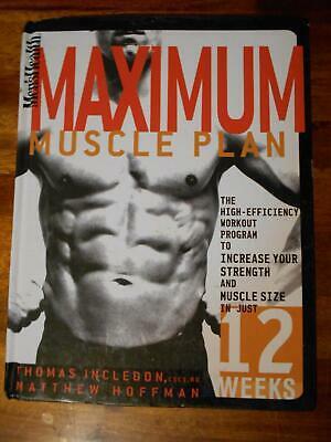 Men's Health MAXIMUM MUSCLE PLAN bodybuilding workout HARDCOVER book 2005