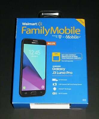 New Sealed, Walmart Family Mobile Samsung Galaxy J3 Luna Pro Prepaid Smartphone