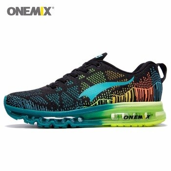 Onemix Brand Running Shoes Men Light weight Athletic Sneakers Mesh Breathable Sport Trainers For Man Music Rhythm Max Size 7-13