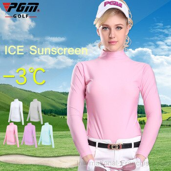 PGM Wholsale Lady Sungreen Top Cool TShirt Summer Compression Women Long Sleeve Polo Shirt Dry Fit Ropa De Golf Mujeres Clothes