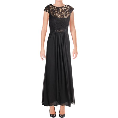 Adrianna Papell Womens Lace Embellished Evening Dress