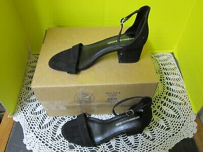 Amazon Essentials Womens Shoes Black Heel 2 Strap D'Orsay Sandals Size 8.5M